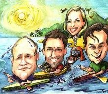 Caricature of Company Holidays- Karikatures.com #art #caricature #cartoon #boss #comapny #personalized #ink #handdrawn