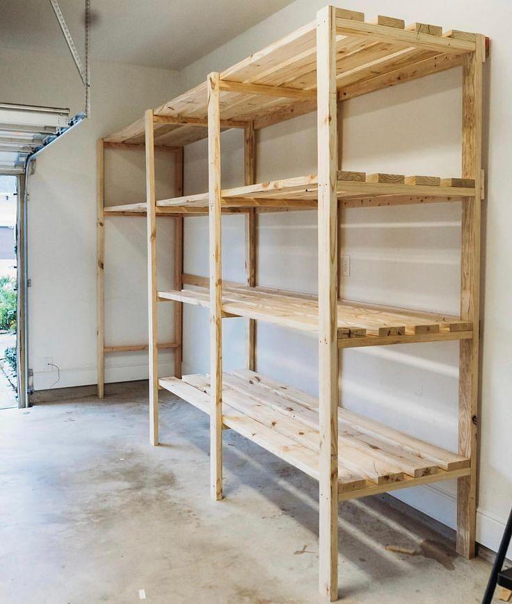 Pin By Shyann On Garage In 2020 Garage Storage Plans Garage Shelving Wooden Garage Shelves