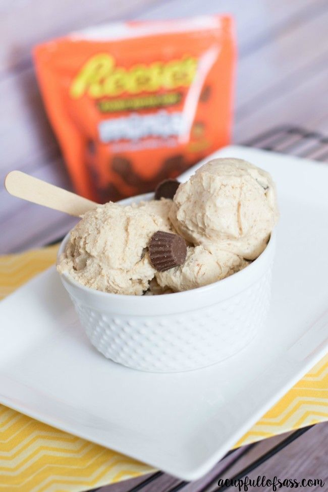 Peanut butter cup ice cream! Make it at home - super easy!