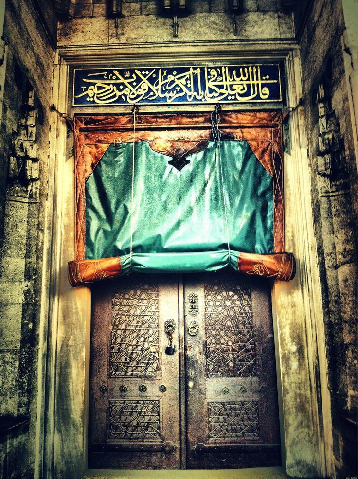 the door of Sokullu Mehmet Pasa Mosque • Istanbul via Instagram by Ciler Gecici
