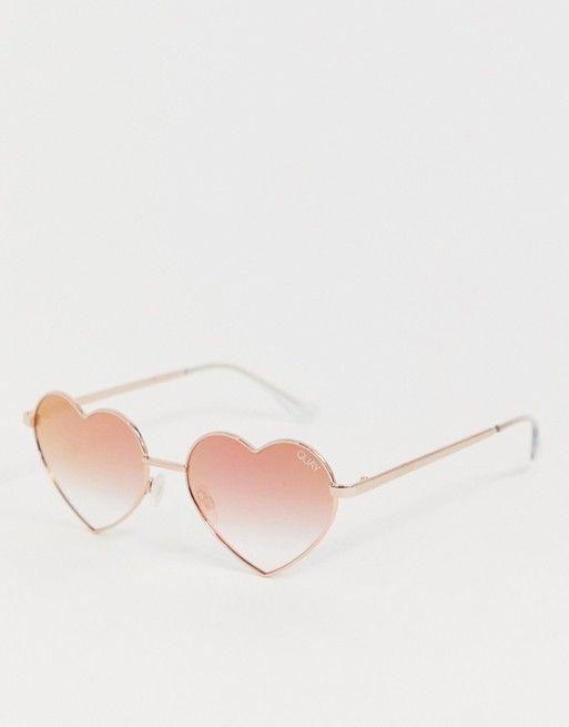 018c7c0d1a79a Quay Australia heart breaker sunglasses in rose gold in 2019 ...