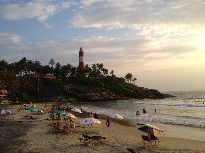 Kovalam Beach in Thiruvananthapuram, Kerala