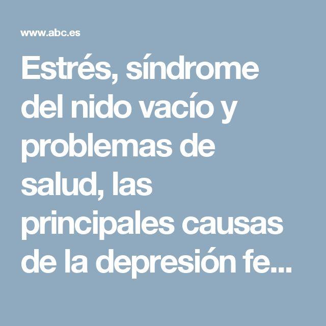 Estrés, síndrome del nido vacío y problemas de salud, las principales causas de la depresión femenina