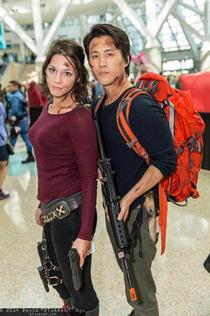 Maggie Greene and Glenn Rhee (THE WALKING DEAD) | Comikaze Expo 2014 - Saturday #DTJAAAAM