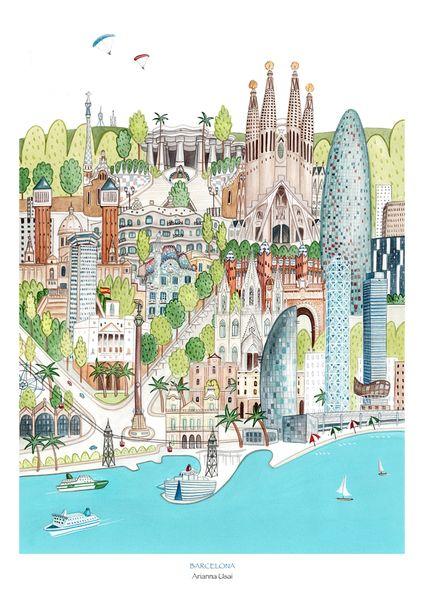 Barcelona di AriLand su DaWanda.com