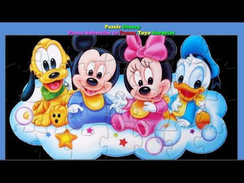PUZZLE Disney Funny Game for Kids Video with Funny Toyo Surprise - YouTube