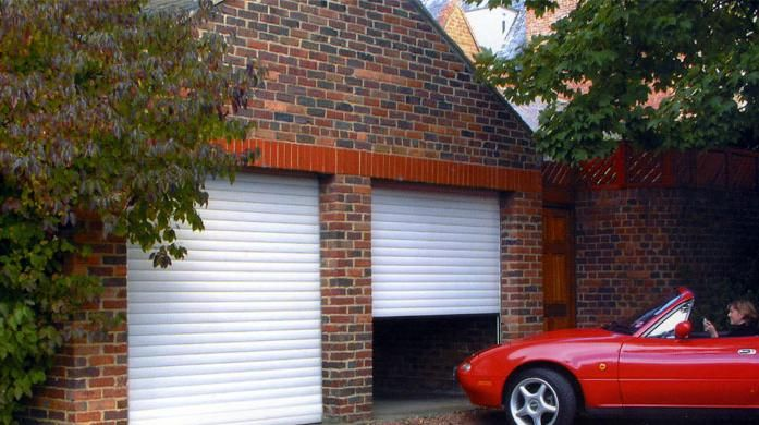 Ultimate Garage Roller Shutter Door.  Comes in a variety of colours with a courtesy light and photo-cell system to detect obstacles underneath the shutter to ensure safety.  www.jordansofhull.co.uk