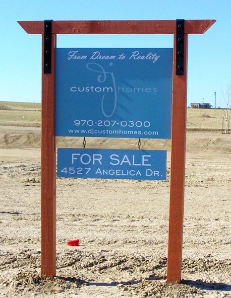 I like that you can customize the message on the bottom half to say for sale, coming soon, the address, etc... Craftsman Style Post & Panel Sign with Custom Frame Franchise Real Estate ...