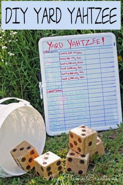 Dollar Store Crafts » Blog Archive » Make a Yard Yahtzee Game