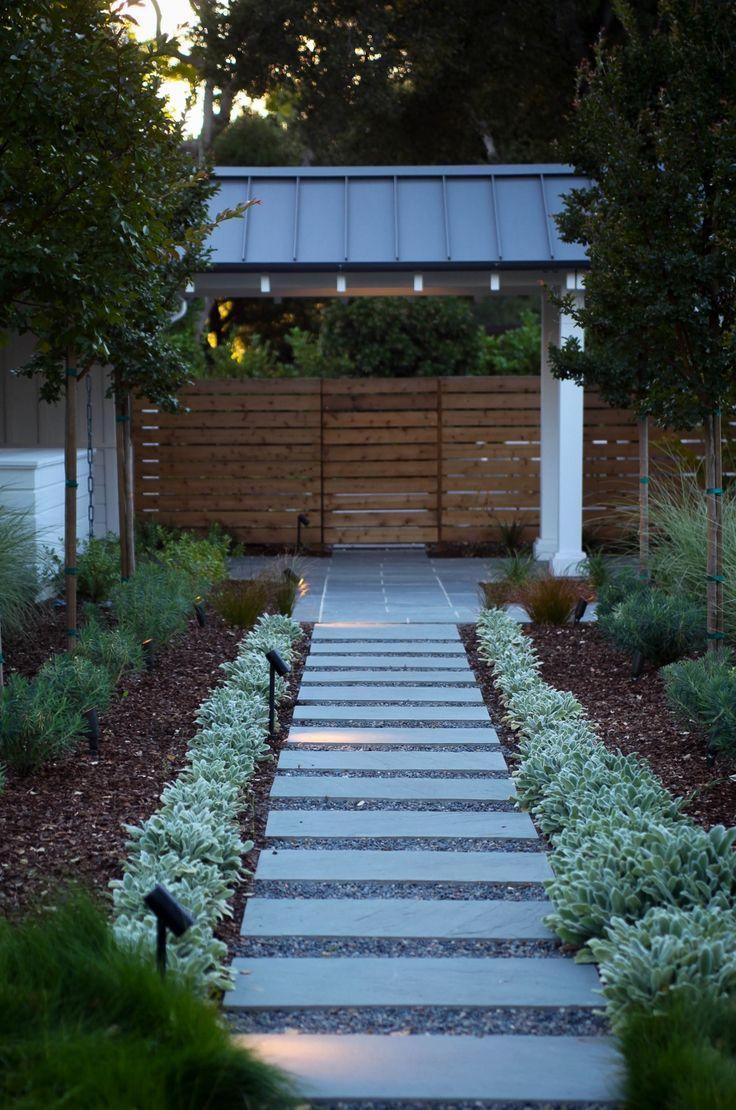Modern Farmhouse Backyard Walkway Backyard Walkway Farmhouse Landscaping Farmhouse Landscape Lighting