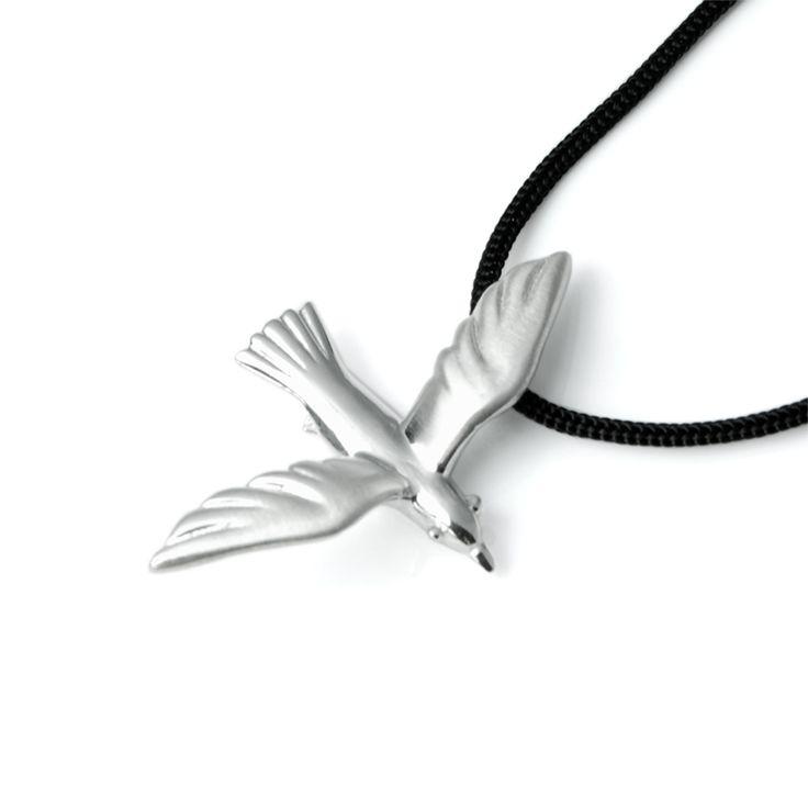 Seagul Pendant # Bird #Jewelry #Summer #Seagull #Beach #Silver #Pendant #Necklace #Gift