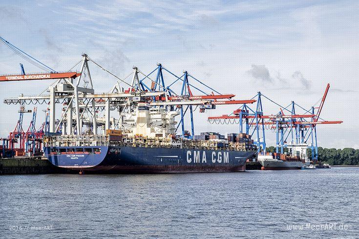 """Containerschiff """"CMA CGM PUCCINI"""" – IMO 9280627 // #HamburgerHafen #Hamburg #Schiffe #Containerschiff #Hafen #CMA CGM  #CMA CGM PUCCINI / gepinnt von www.MeerART.de"""