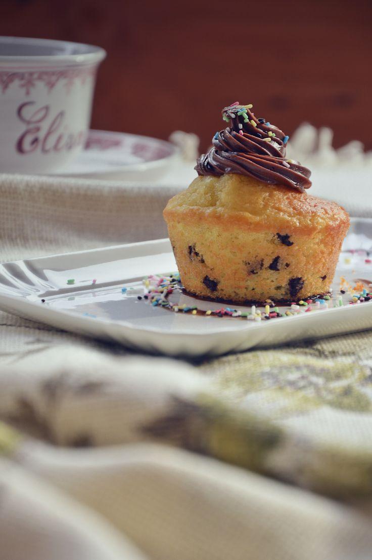 Homemade chocolate cupcake. #food #love #cupcake #homemade #yogurt #chocolate #sweet #dessert #simplify #love