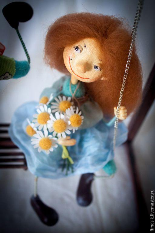 Купить Подружки-ватрушки - оригинальный подарок, подарок подруге, авторская работа, авторская кукла