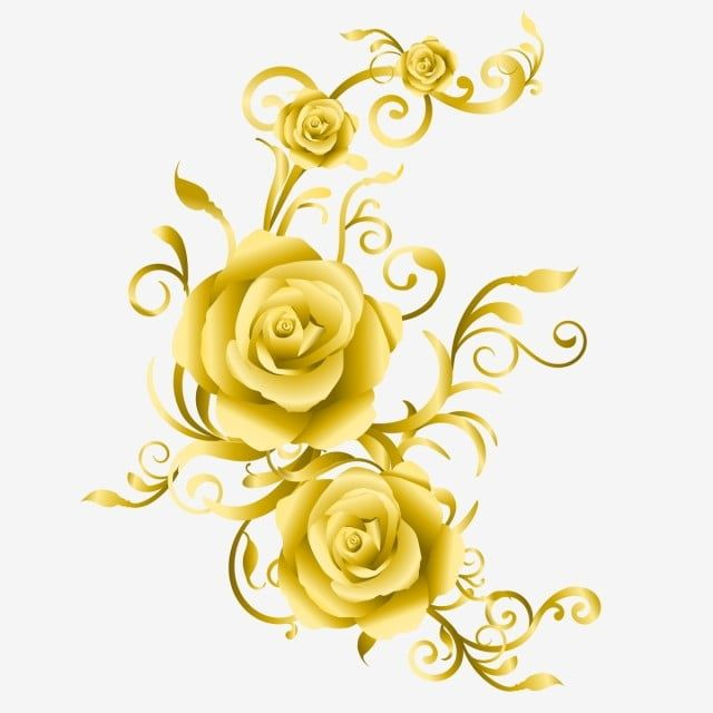 The Unique Wedding Card With Golden Roses Roses Clipart Golden Roses Golden Flower Png And Vector With Transparent Background For Free Download Flower Cards Wedding Invitation Background Unique Wedding Cards