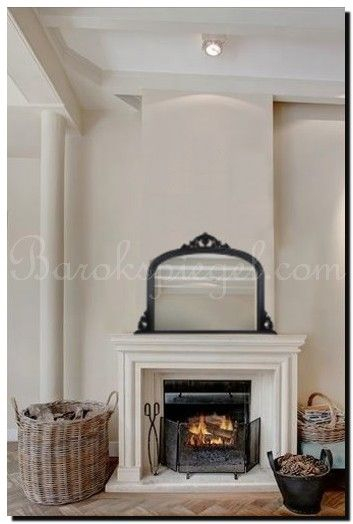 English Overmantle Mirror. Romantische Mirror Ideas.  Engelse toogspiegel op schoorsteenmantel  http://www.barokspiegel.com/nieuwe-collectie/schouwspiegel-dax