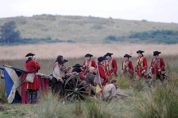 La victoie des Hanovriens, drapeau écossais à terre