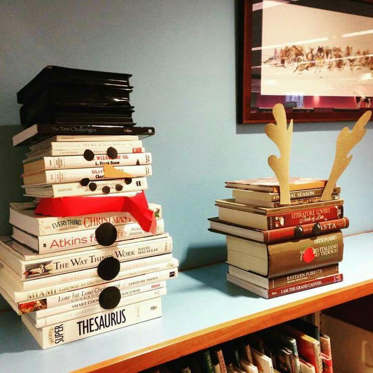 Weihnachtsdeko mit Büchern