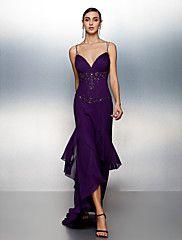 Fiesta formal Vestido Corte Recto Asimétrico - ... – MXN $ 2,243.81