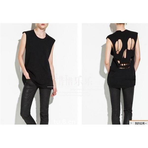 Camisa Estilo Europeu Caveira - Preto/Branco - Azza Boutique - $59.00
