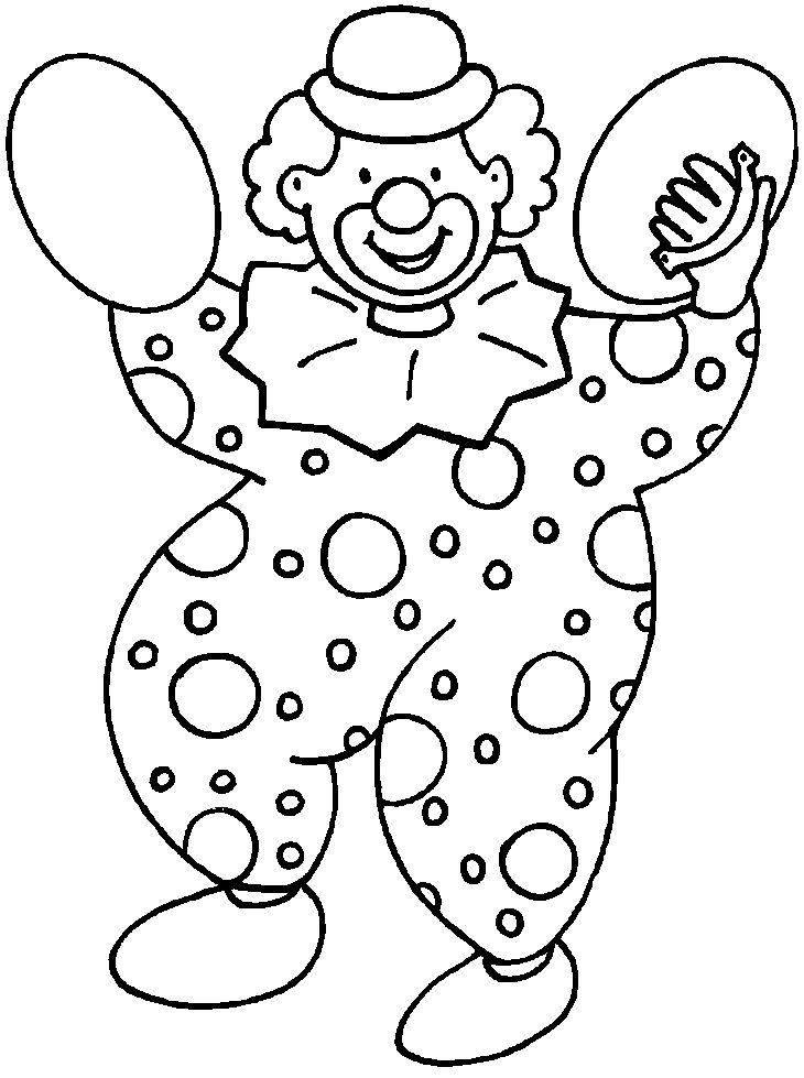 Dessins de Clown à colorier | Dessin clown, Coloriage