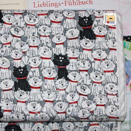 Ткань для пэчворка Коты черно-белые (20425) американский хлопок