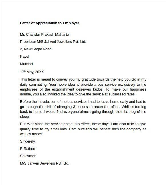 As 25 melhores ideias de Appreciation letter to boss no Pinterest - professional thank you letter sample