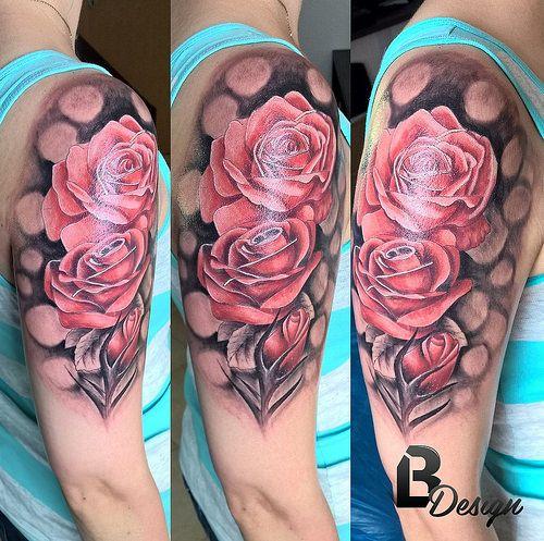 rose tattoo - artist: László Bódi /BL Design Tattoo Studio