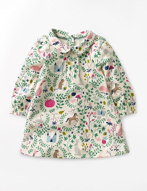 Ideal for play dates or the park, this sweet little dress has a sueded finish which feels lovely and soft against baby's skin. Featuring a collar for extra daintiness, it's finished with poppers down the back for easy costume changes (phew).