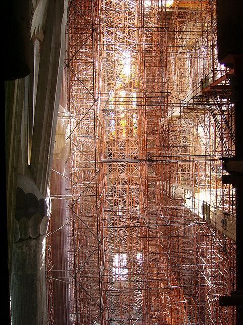 Scaffolding, Sagrada Familia by fooishbar, via Flickr