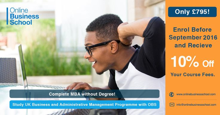 Join now and get 10% off on course fees. Offer valid till 31st August, 2016. Visit now www.onlinebusinessschool.com/graduate-diploma-business-administrative-management