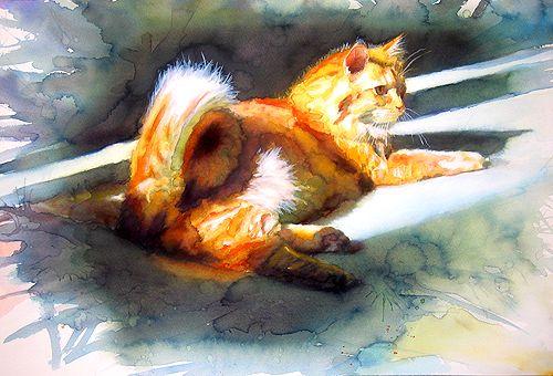 Художник-акварелист Alex Carter, Де-Мойн, США в центральной части штата Айова. Алекс поражает своей виртуозной техникой исполнения живописи, сочным колоритом и…
