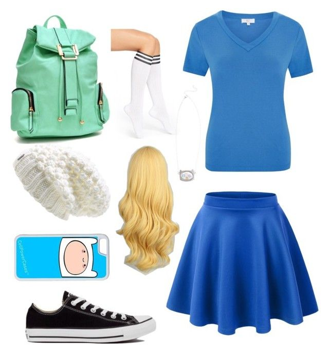 """adventure time (fiona)"" by valen247 on Polyvore featuring Lolë, CC, Dasein, Arthur George, Converse and CellPowerCases"
