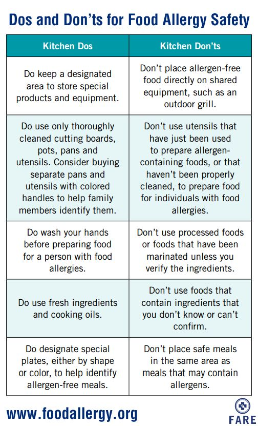 "Learn the ""Dos and Don'ts"" for food allergy safety in the kitchen"