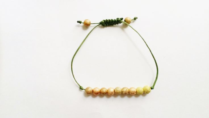 macrame friendship bracelet with colourfull beads