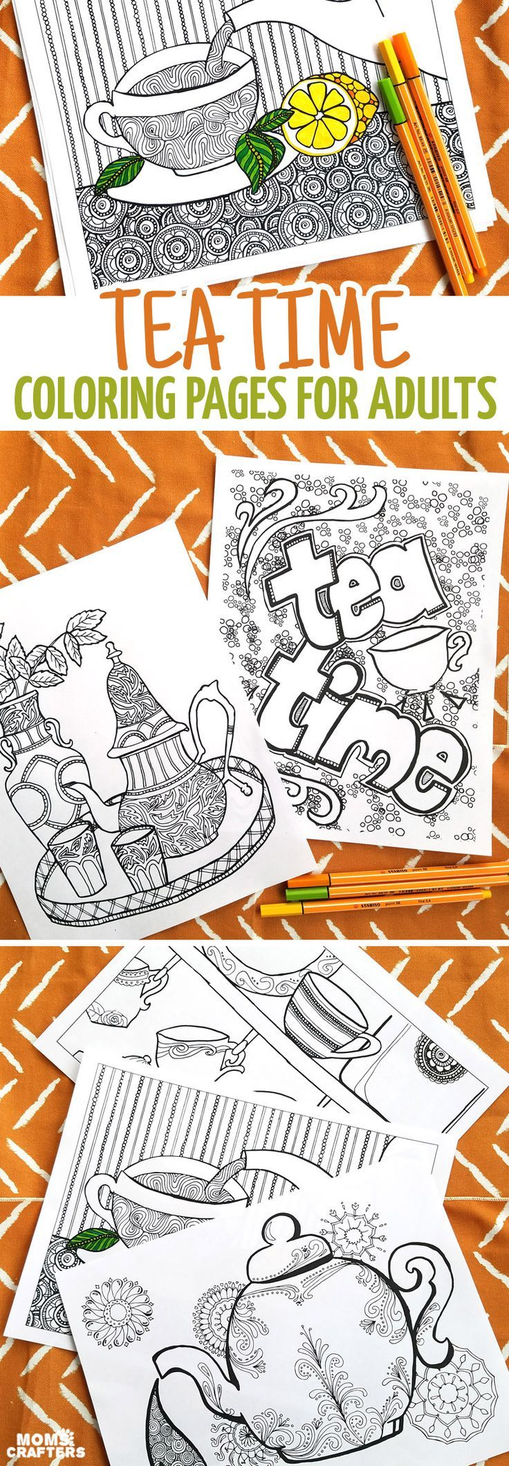 Zen colouring advanced art therapy collector edition - Adult Coloring Pages Perfect For Tea Time