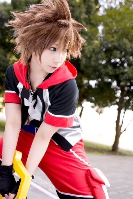 Sora - Kingdom Hearts cosplay   The hair and the pose is what makes this an excellent cosplay.