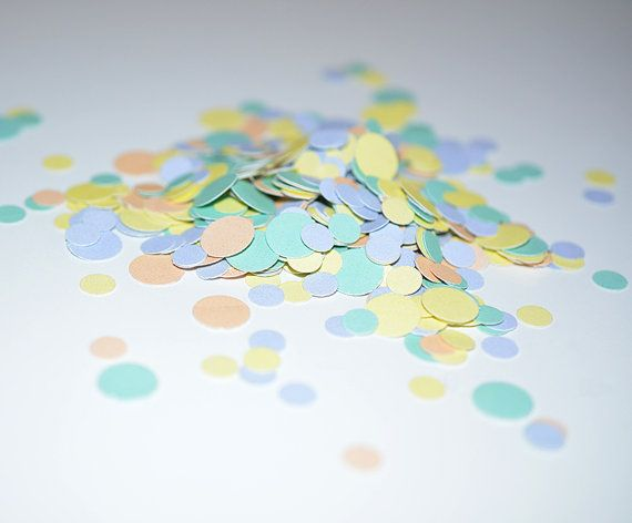 Mix Confetti in pastel colors by Empilompski on Etsy