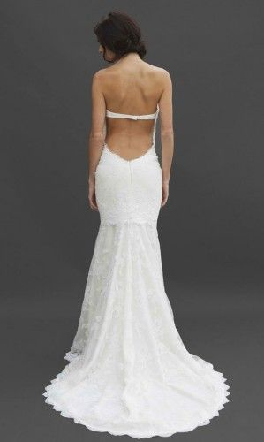 43 best images about backless wedding dresses on pinterest for Low back bras wedding dress