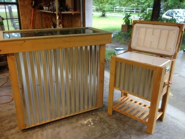 For Outdoor Parties Granite Topped Bar And Cooler Rustic Creations