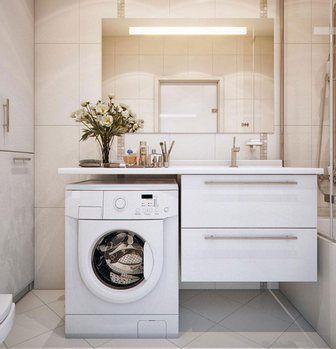 встроенная раковина в ванной