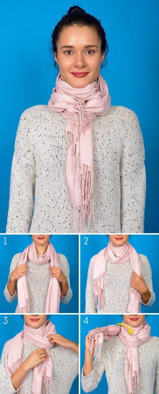 8 способов дополнить осенний образ с помощью шарфа. Итальянский узел