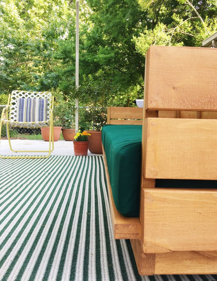 Oh hey there again dark green. Check out the full patio reveal here.