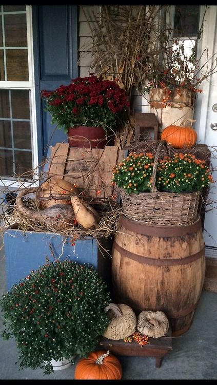 Beautiful Fall porch