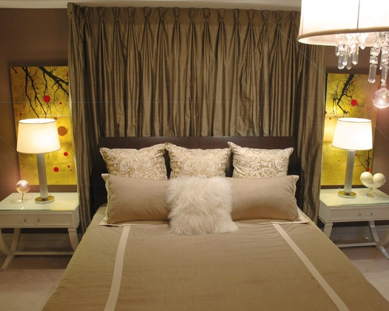 17 best ideas about curtain behind headboard on pinterest curtains behind bed curtain ideas. Black Bedroom Furniture Sets. Home Design Ideas
