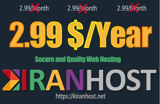 Web Hosting for 2.99$/Year Only https://kiranhost.net