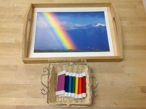Montessori Color Tablets- Rainbow