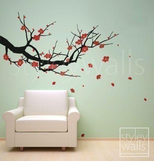 Vinyl Wall Decals Cherry Blossom Wall Decal Sakura Tree