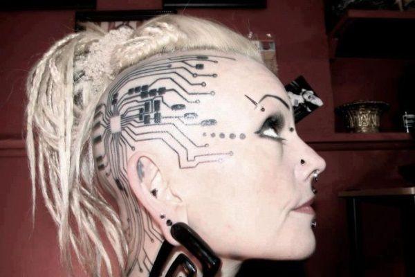 head tattoo designs