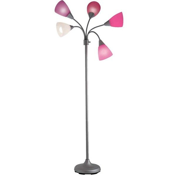 Marvelous Room Essentials™ Pink Floor Lamp 5 Head : Target ($40) ❤ Liked On
